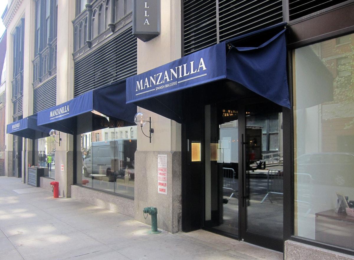 Manzanilla Spanish Brasserie Awnings & Signage