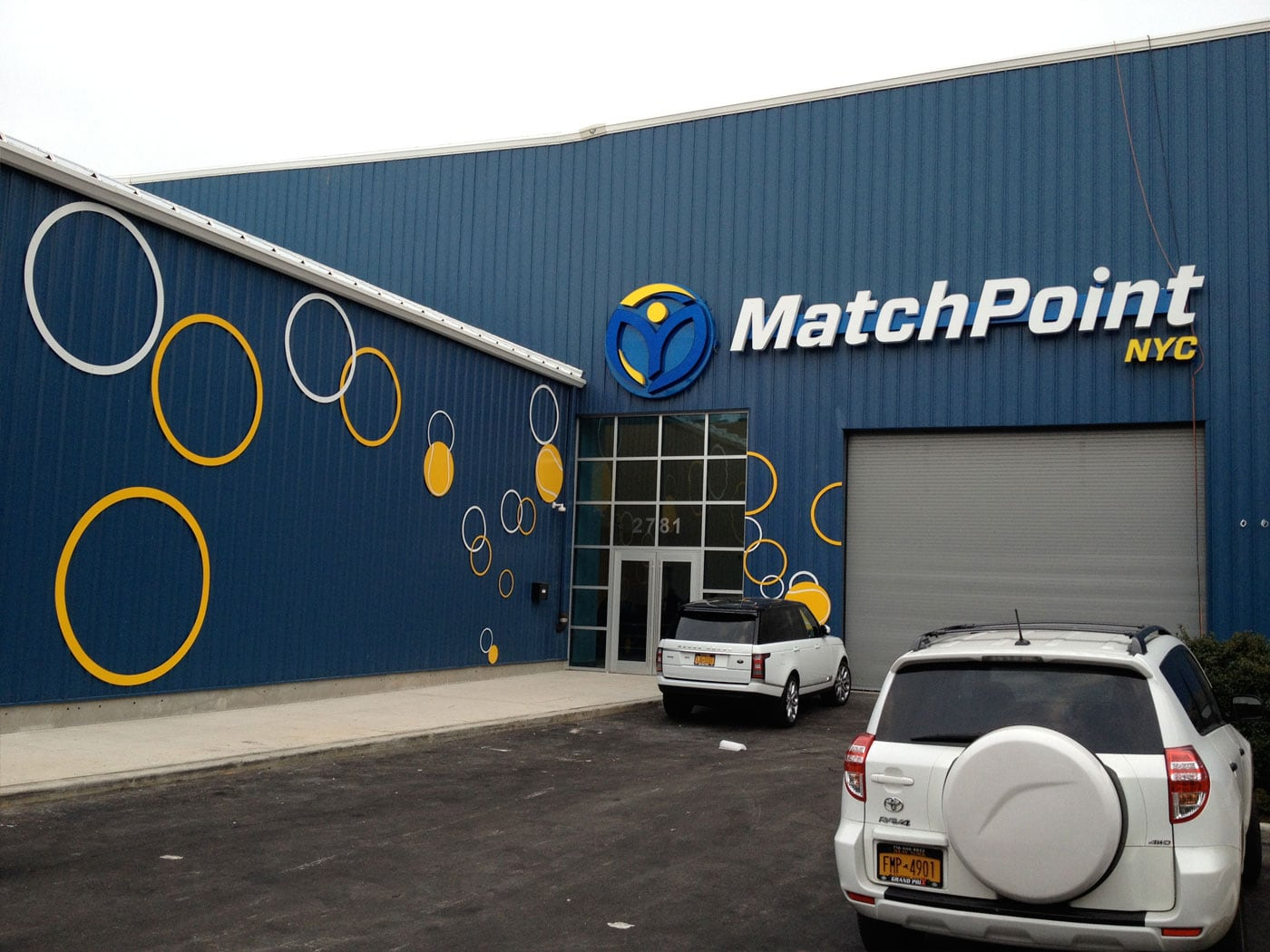 MatchPoint NYC Signage Designed by Bill Brissette